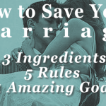 How to save your marriage - a simple process